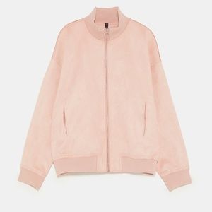 *CLEAROUT SALE* FAUX SUEDE BOMBER JACKET